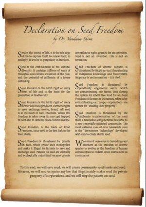 Verklaring van zaadsoevereiniteit
